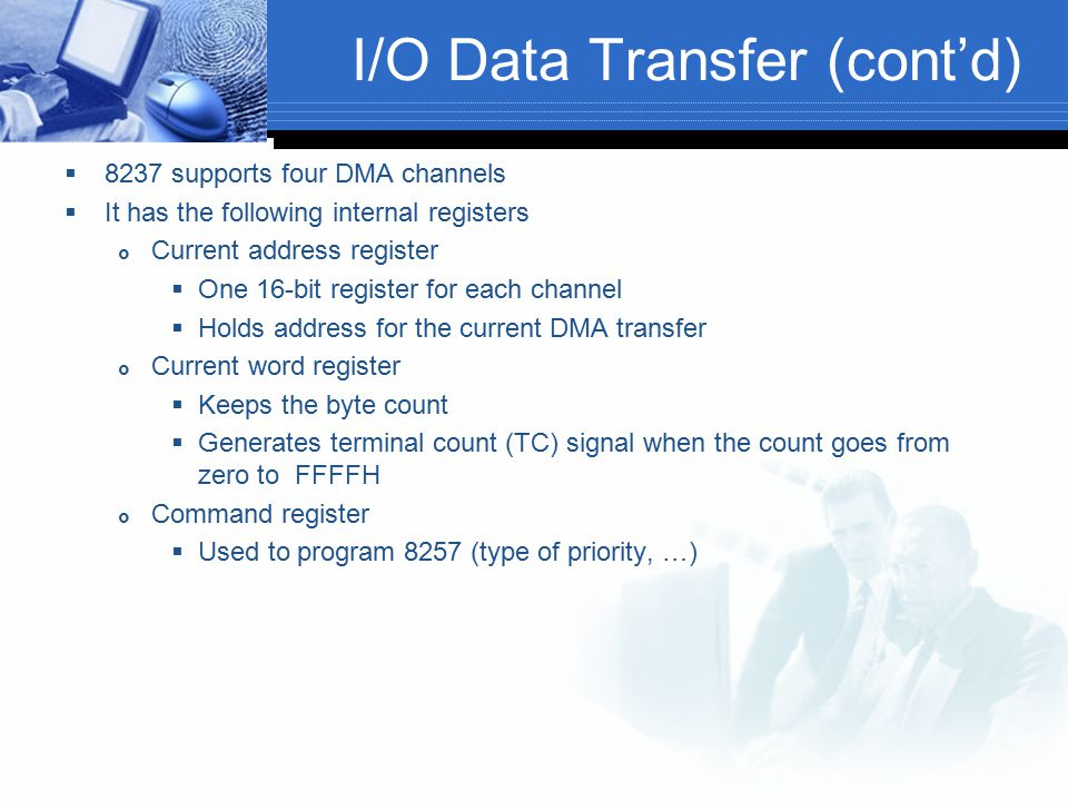 I/O Data Transfer (cont'd)
