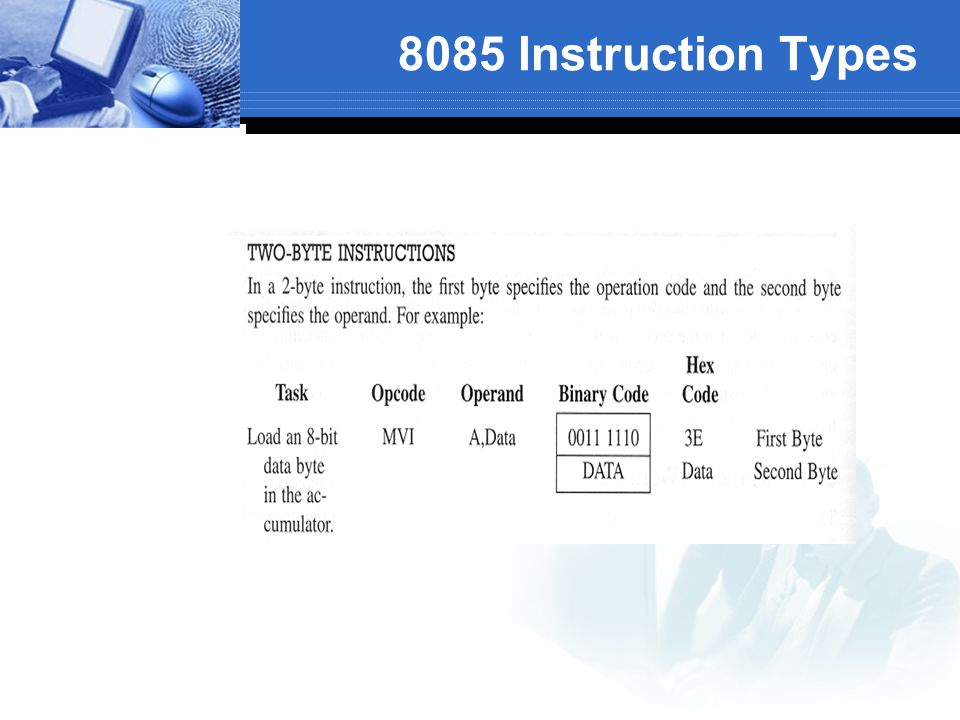 8085 Instruction Types