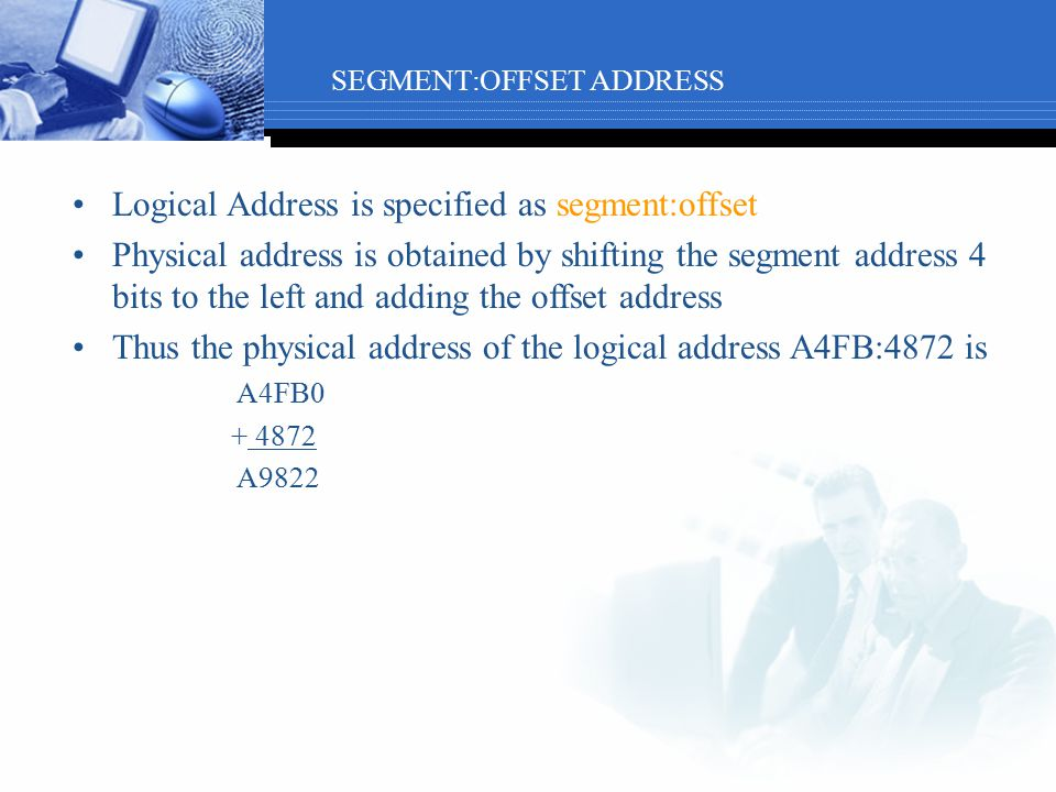 SEGMENT:OFFSET ADDRESS