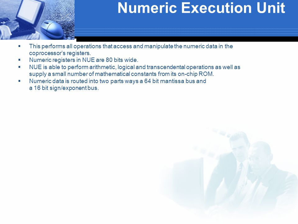 Numeric Execution Unit