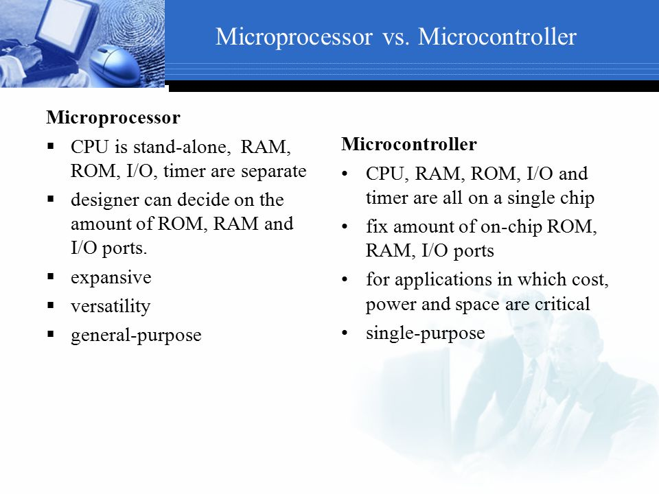 Microprocessor vs. Microcontroller