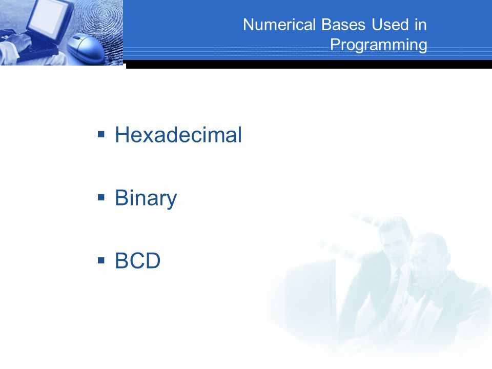 Numerical Bases Used in Programming
