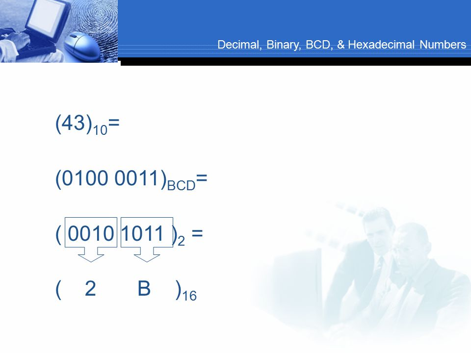 Decimal, Binary, BCD, & Hexadecimal Numbers