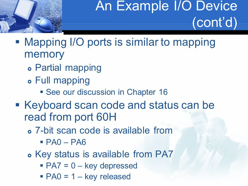 An Example I/O Device (cont'd)