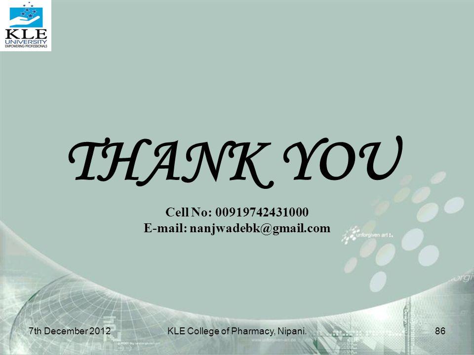 E-mail: nanjwadebk@gmail.com