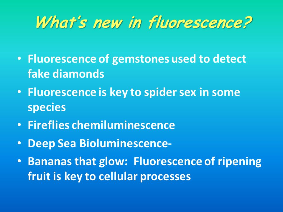 What's new in fluorescence