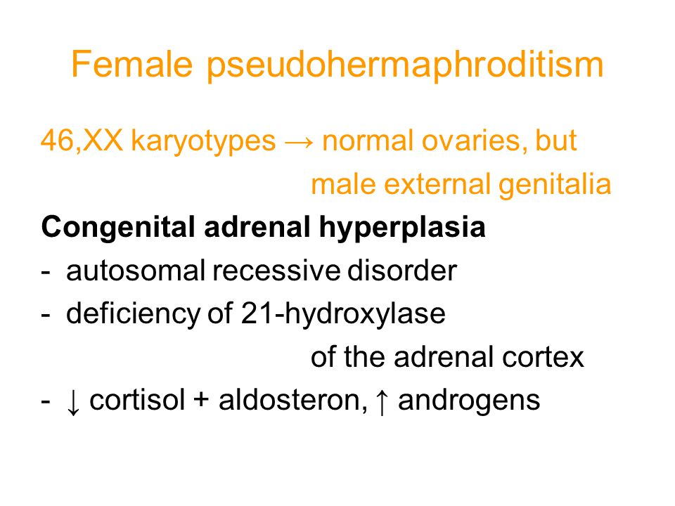 Female pseudohermaphroditism