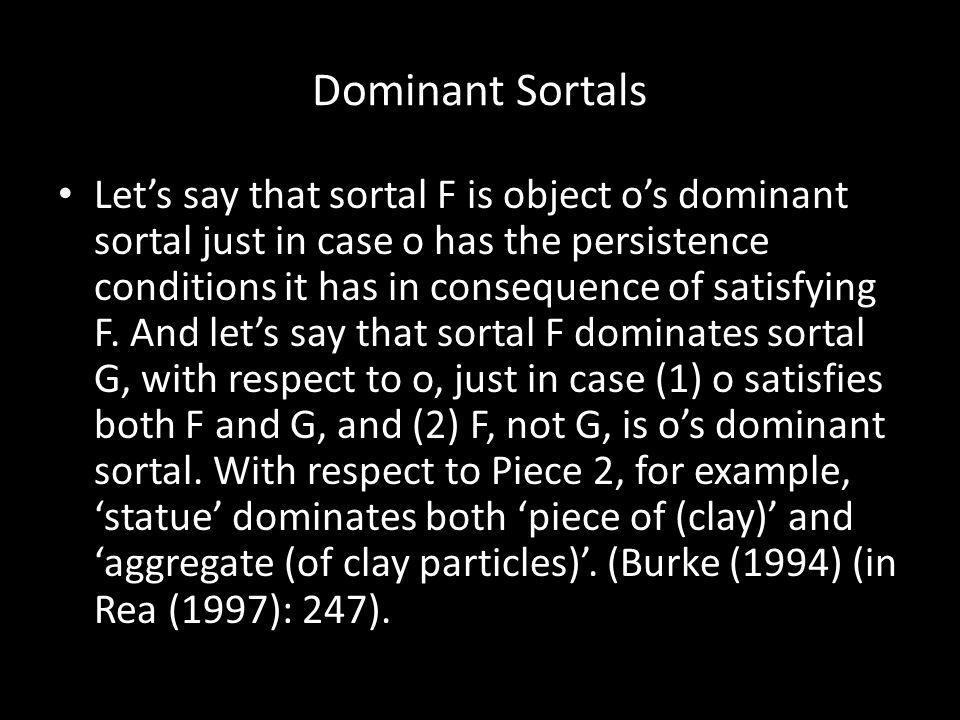 Dominant Sortals