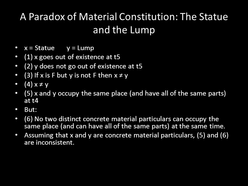 A Paradox of Material Constitution: The Statue and the Lump