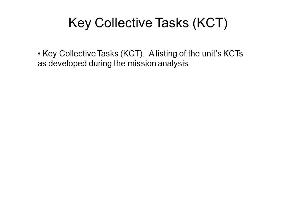 Key Collective Tasks (KCT)