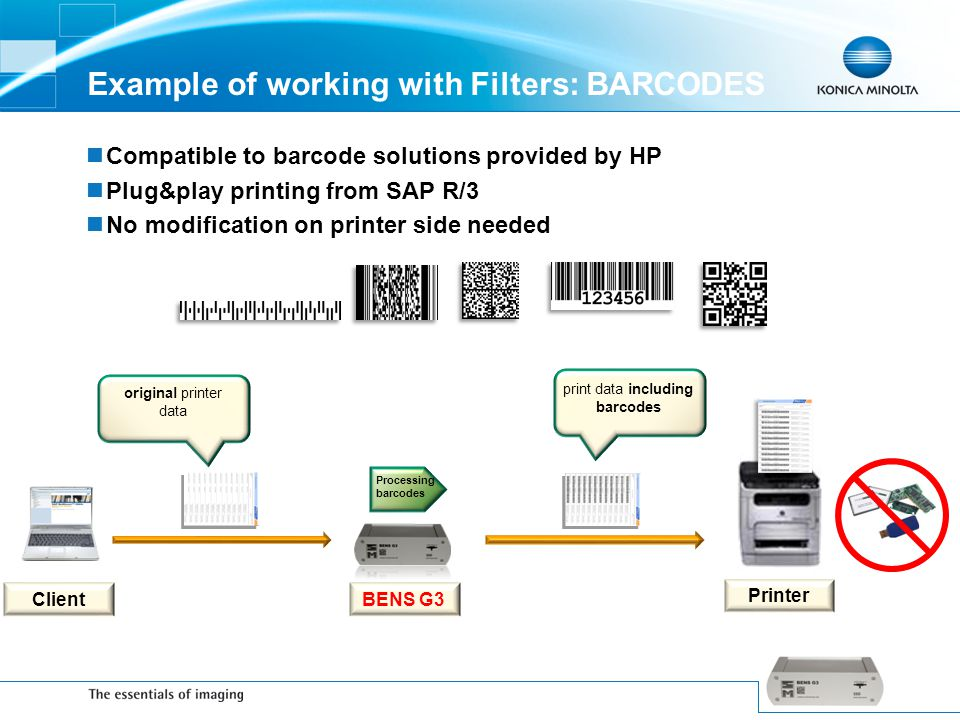 Example of working with Filters: BARCODES