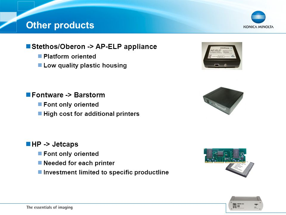 Other products Stethos/Oberon -> AP-ELP appliance