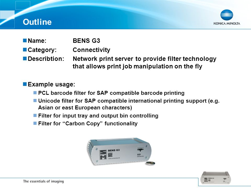 Outline Name: BENS G3 Category: Connectivity