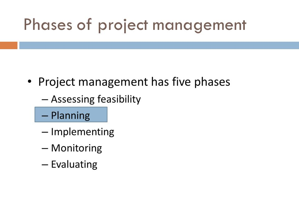 Phases of project management