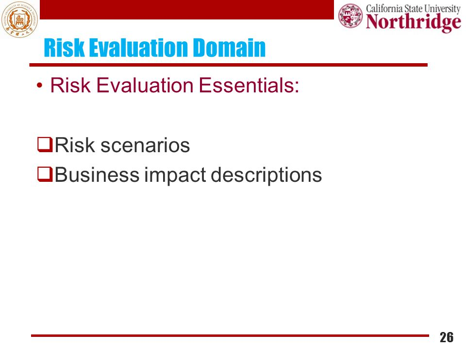 Risk Evaluation Domain