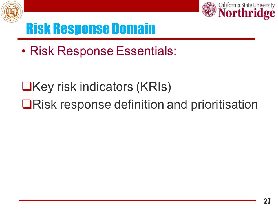 Risk Response Domain Risk Response Essentials: