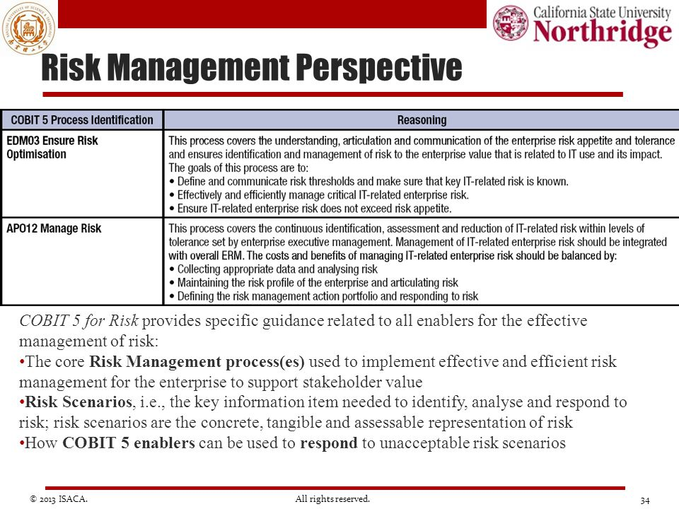 Risk Management Perspective