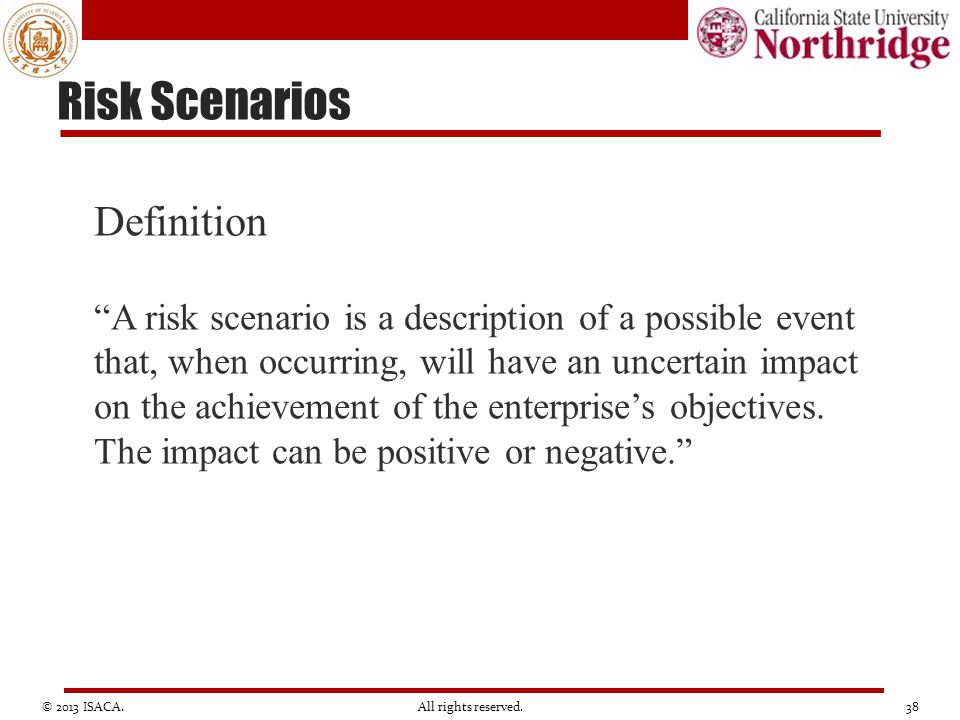 Risk Scenarios Definition