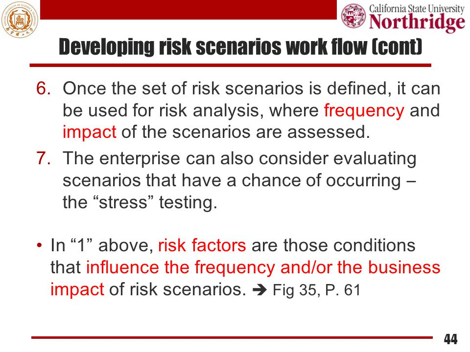 Developing risk scenarios work flow (cont)