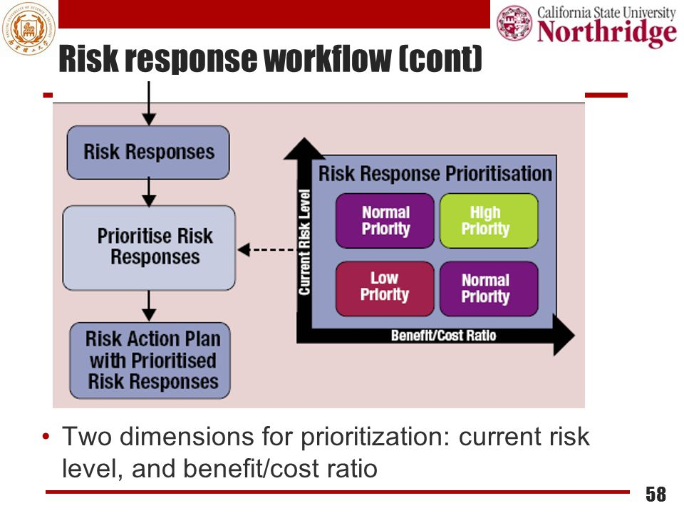Risk response workflow (cont)