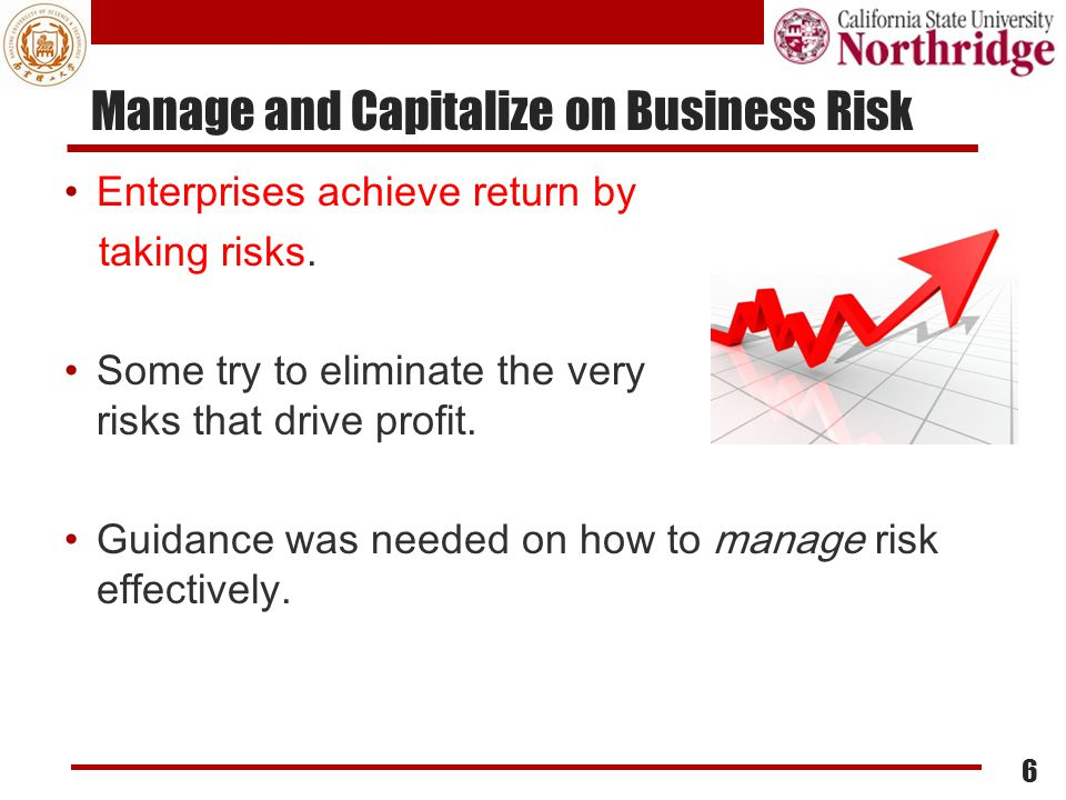 Manage and Capitalize on Business Risk