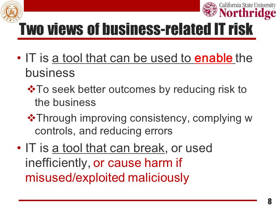 Two views of business-related IT risk