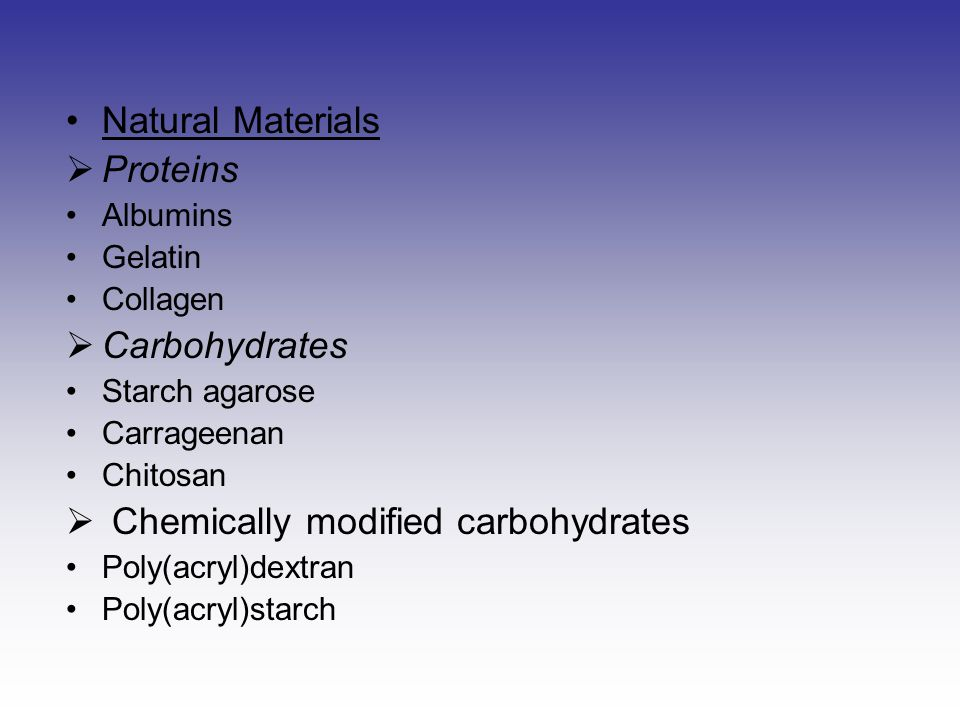Chemically modified carbohydrates