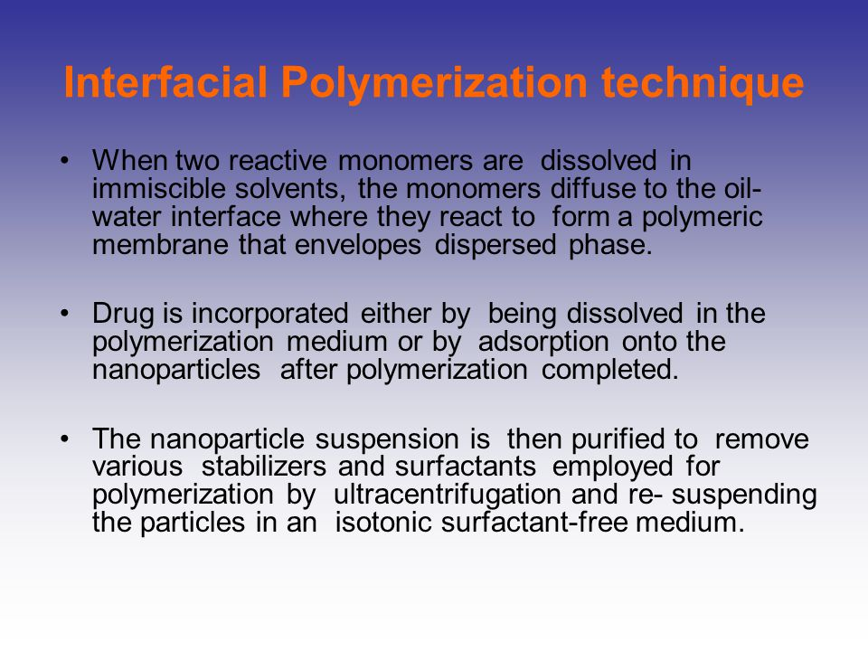 Interfacial Polymerization technique