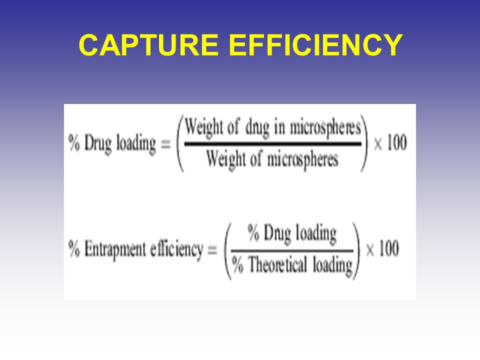 CAPTURE EFFICIENCY