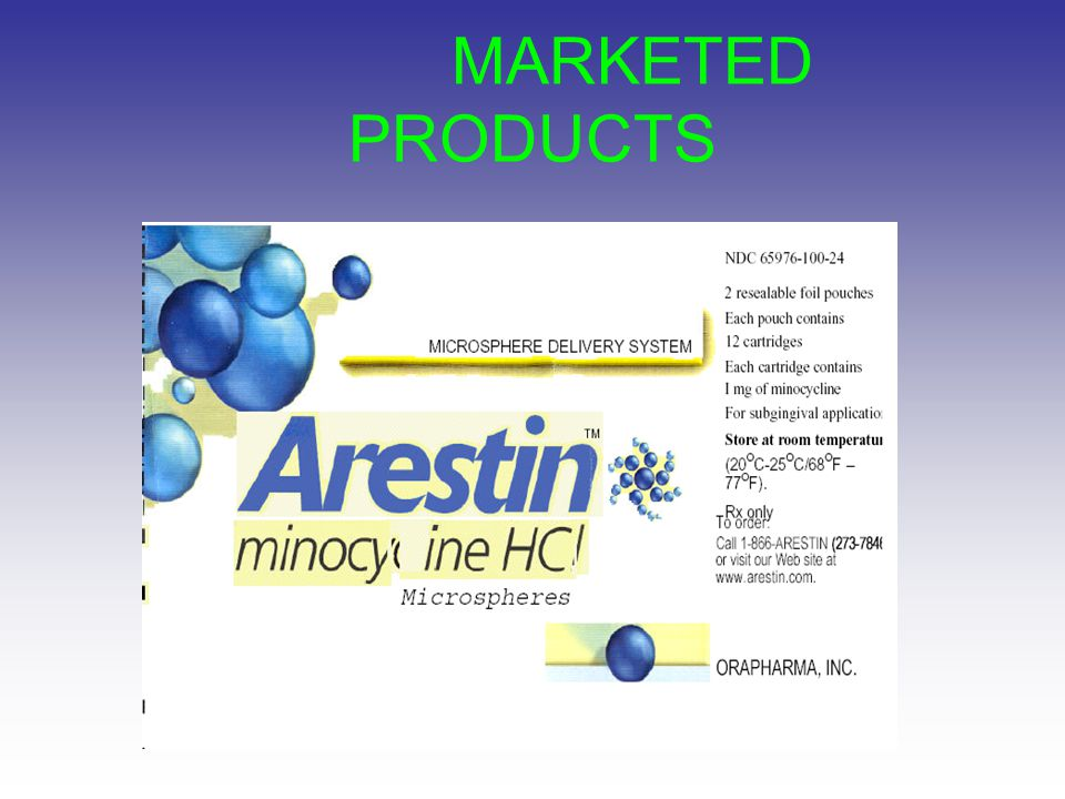 MARKETED PRODUCTS