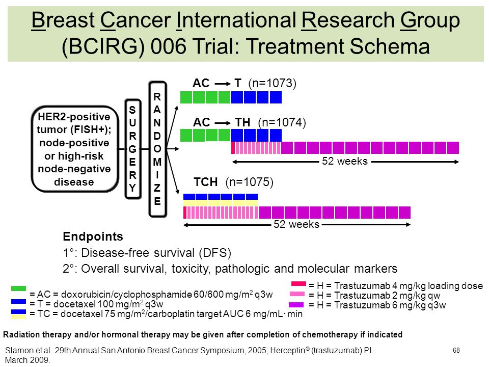 Breast Cancer International Research Group (BCIRG) 006 Trial: Treatment Schema