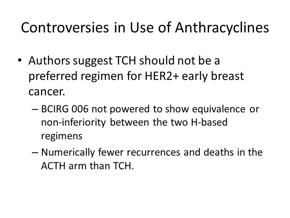 Controversies in Use of Anthracyclines