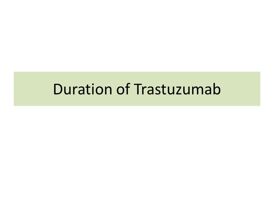 Duration of Trastuzumab