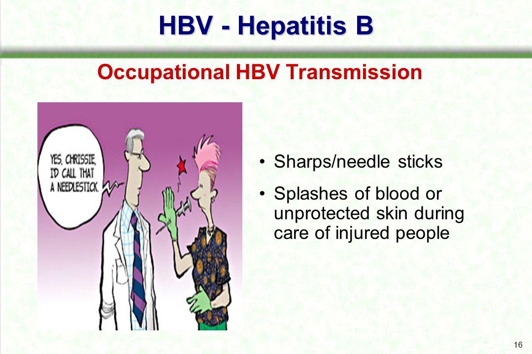 Occupational HBV Transmission