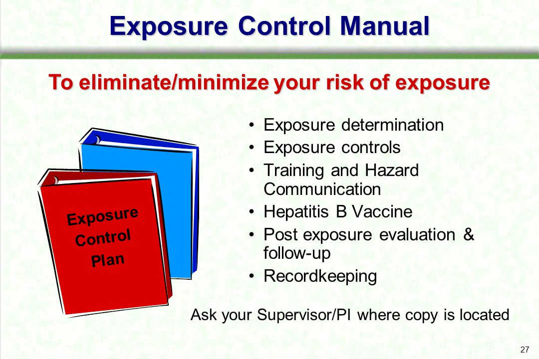 Exposure Control Manual