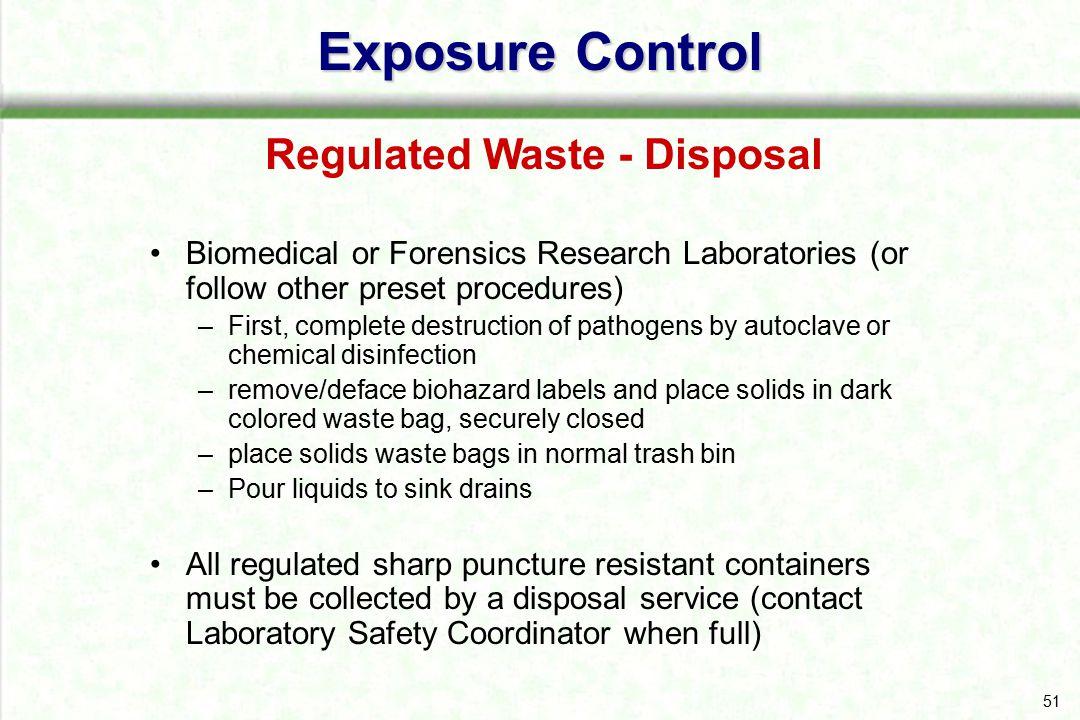 Regulated Waste - Disposal