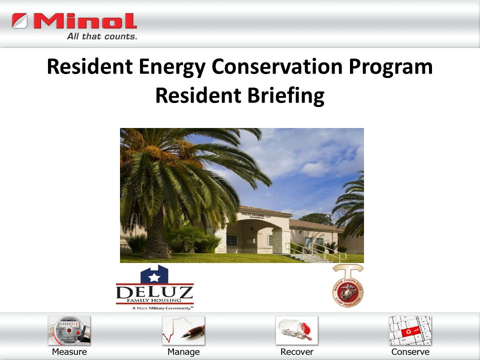 Resident Energy Conservation Program Resident Briefing