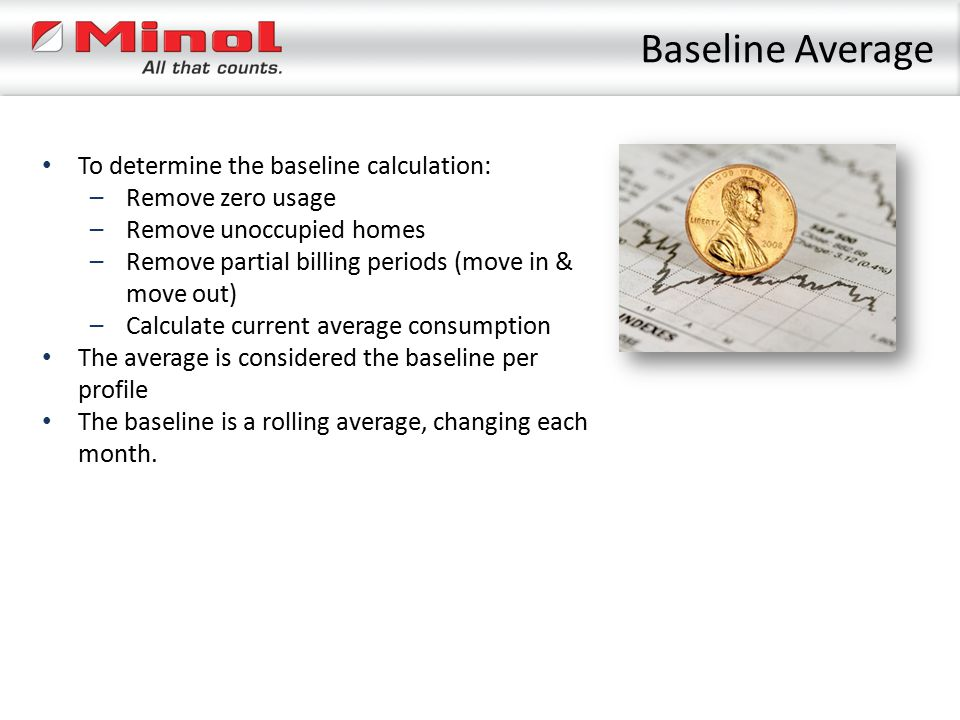 Baseline Average To determine the baseline calculation: