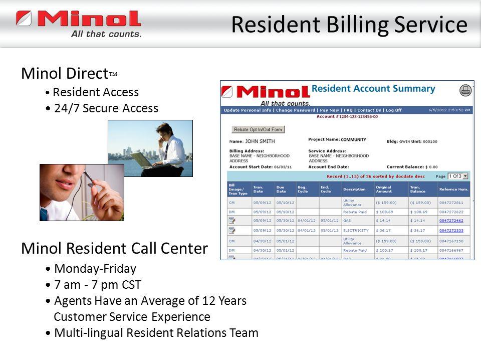 Resident Billing Service