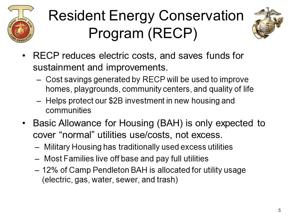 Resident Energy Conservation