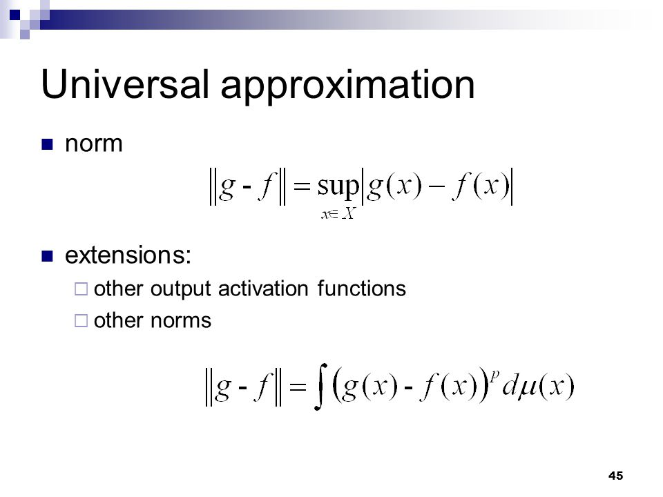 Universal approximation