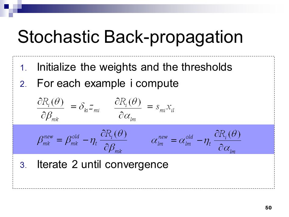 Stochastic Back-propagation