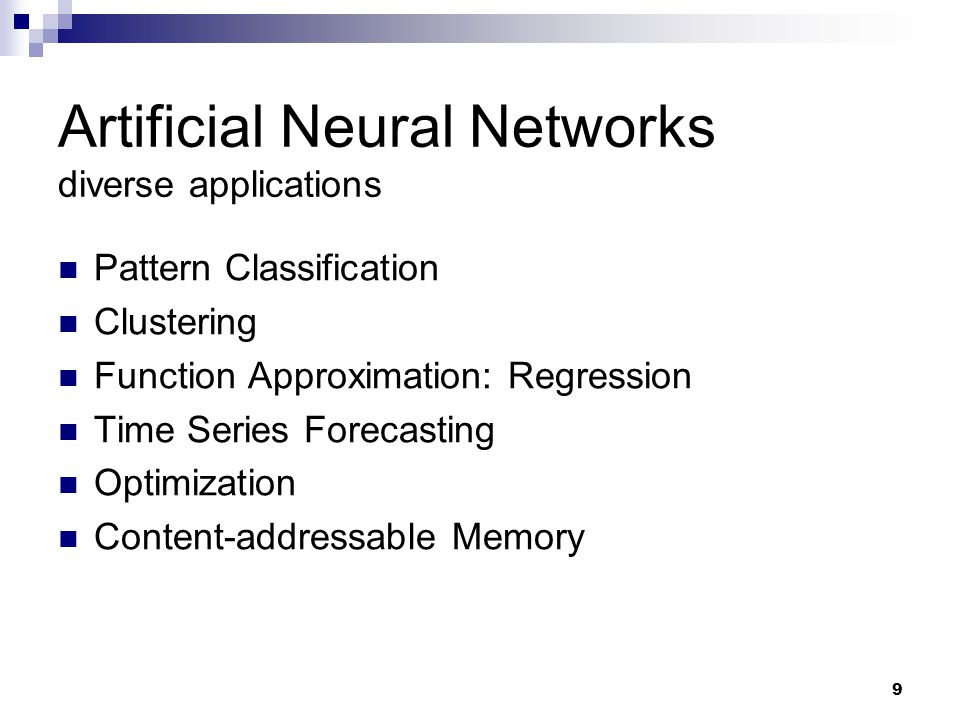 Artificial Neural Networks diverse applications