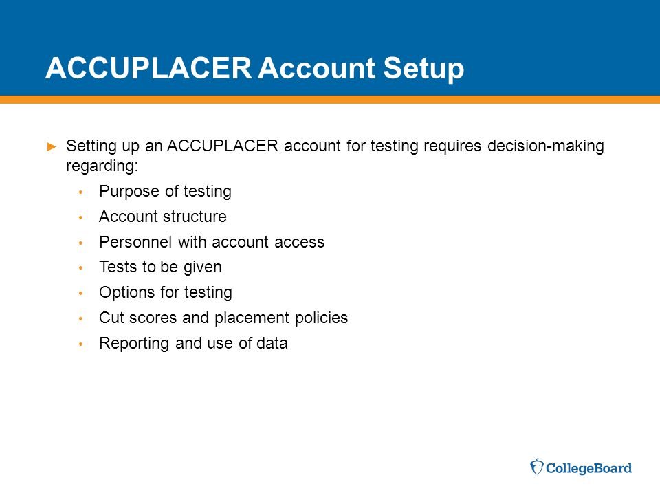 ACCUPLACER Account Setup