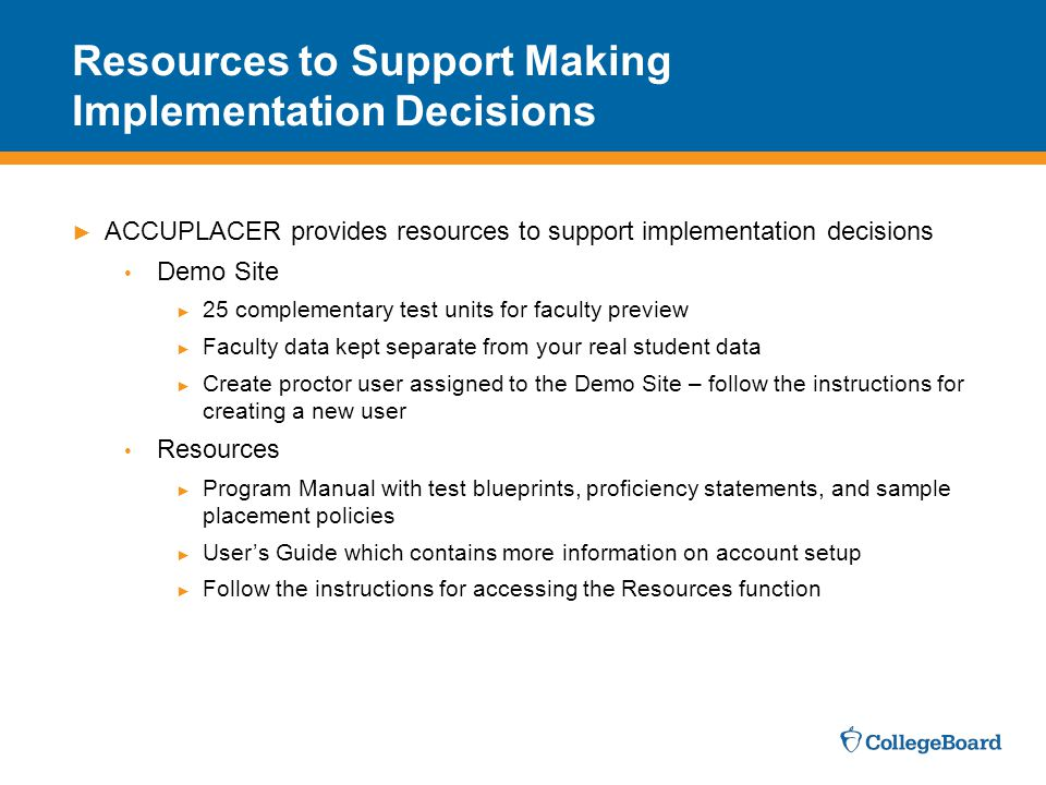 Resources to Support Making Implementation Decisions