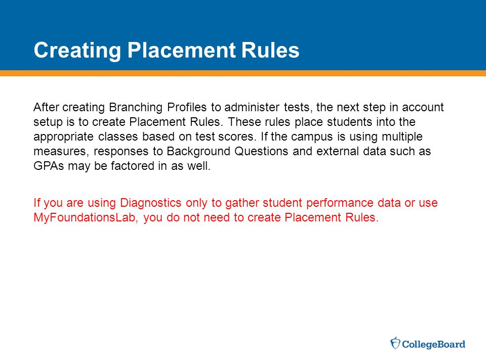 Creating Placement Rules