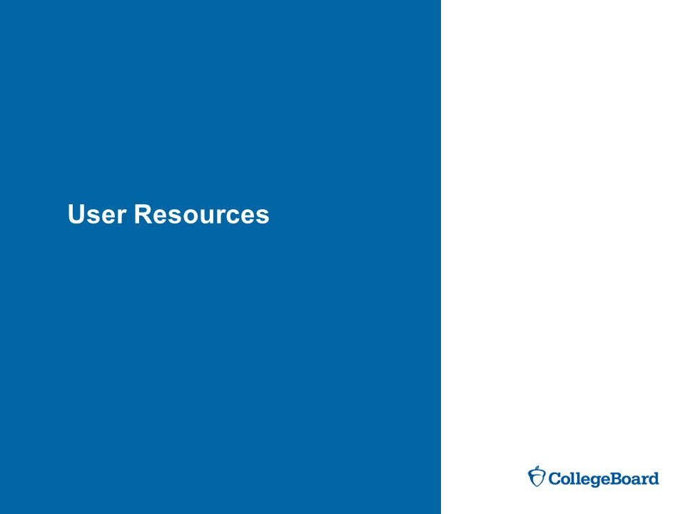 User Resources User Resources