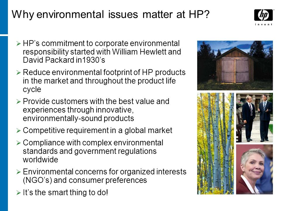 Why environmental issues matter at HP