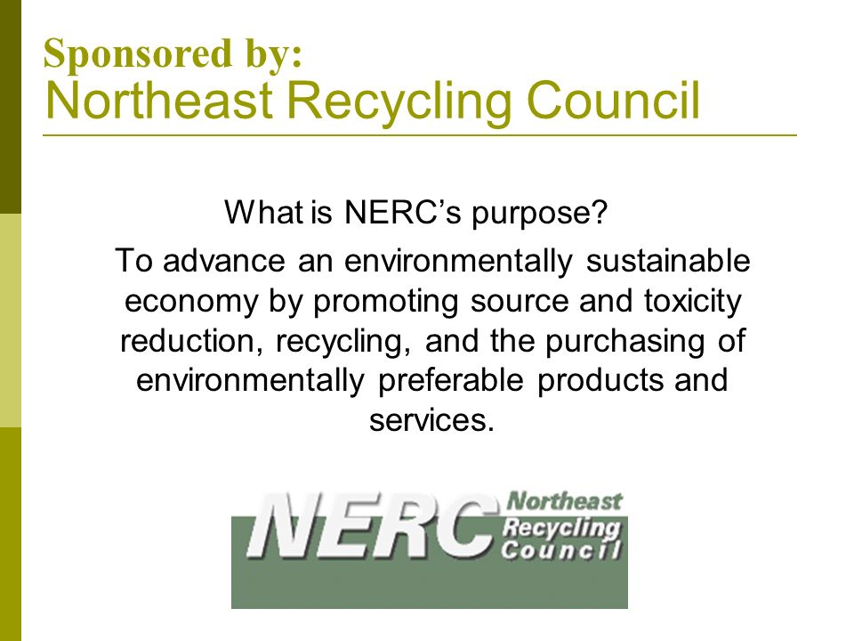 Northeast Recycling Council
