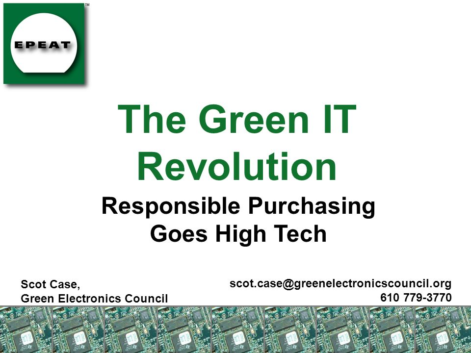 The Green IT Revolution